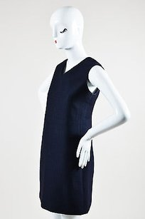 Céline short dress Blue Celine Navy Silk Wool Blend on Tradesy