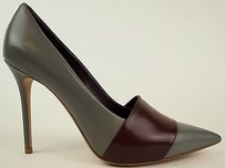 Céline Leather Pointed Toe Stiletto Heels Eu Grey / Wine Pumps