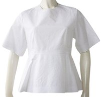 Céline Celine Cotton Short Top White
