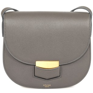 Céline Trotteur Grained Calfskin Cross Body Bag