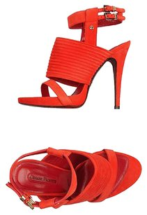 Cesare Paciotti Cut-out Platform Sandal Orange/Red Sandals