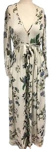 Multi-Color Maxi Dress by Chan Luu Taupe Floral Button