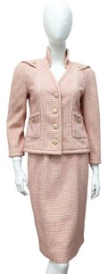 Chanel Resort Tweed Suit Jacket Skirt Camellia