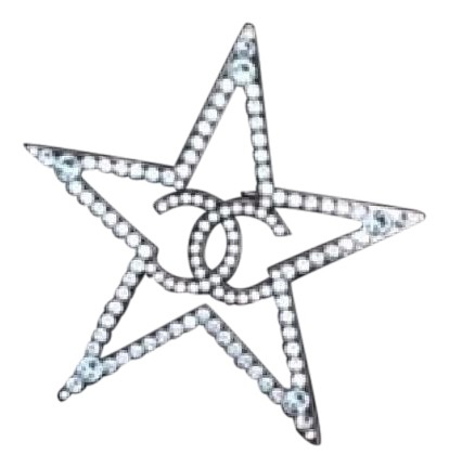chanel pin. chanel 2017 star brooch pin with blue crystals