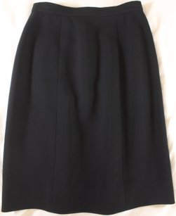 Chanel 40 Black Fr Lk Skirt
