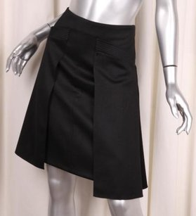 Chanel 06a Classic Womens Wool Pleated 364 Skirt Black