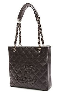 Chanel Quilted Caviar Tote in Black