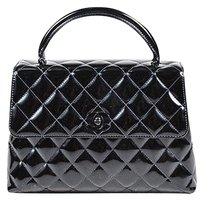 Chanel Vintage Patent Tote in Black