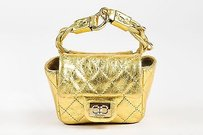 Chanel Metallic Quilted Tote in Gold