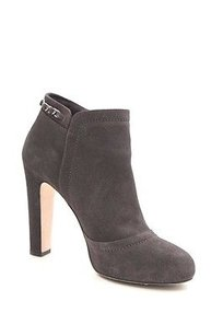 Chanel Suede Leather Gray Boots