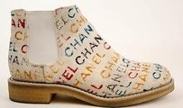 Chanel 14s Canvas Graffiti White / Multi-Color Boots
