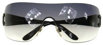 Chanel Authentic CHANEL CC Logos Sunglasses Black Plastic Made in Italy Vintage LP09373
