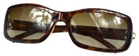 Chanel Authentic CHANEL CC Logos Sunglasses Eye Wear Plastic Brown Italy Vintage 02T640
