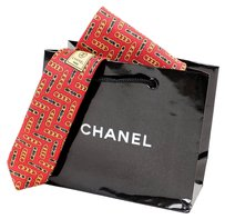 Chanel Authentic Chanel Men's Red Tie