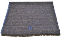 Chanel AUTHENTIC CHANEL MUFFLER STOLE NAVY BROWN CASHMERE LARGE ITALY VINTAGE RK07068
