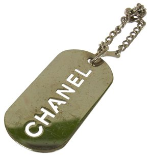 Chanel Authentic CHANEL Vintage CC Logos Key Chain Holder Silver France LP14968