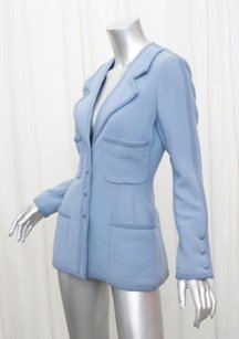 Chanel Boutique Womens Blue Jacket