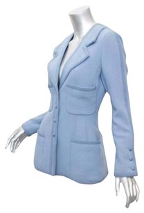 Chanel Boutique Womens Vintage Baby Coat 342 Blue Jacket