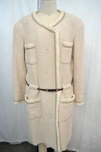 Chanel Wool Silk Boucle Coat