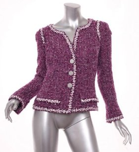 Chanel 09c Womens Berry Purple Jacket