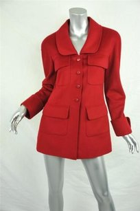 Chanel Classic Wool Red Jacket
