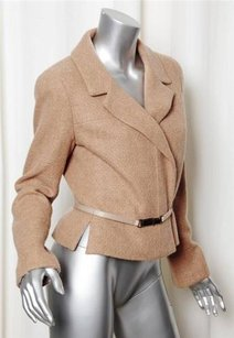 Chanel Fall 2000 Cashmere Belted Coat TAN Jacket