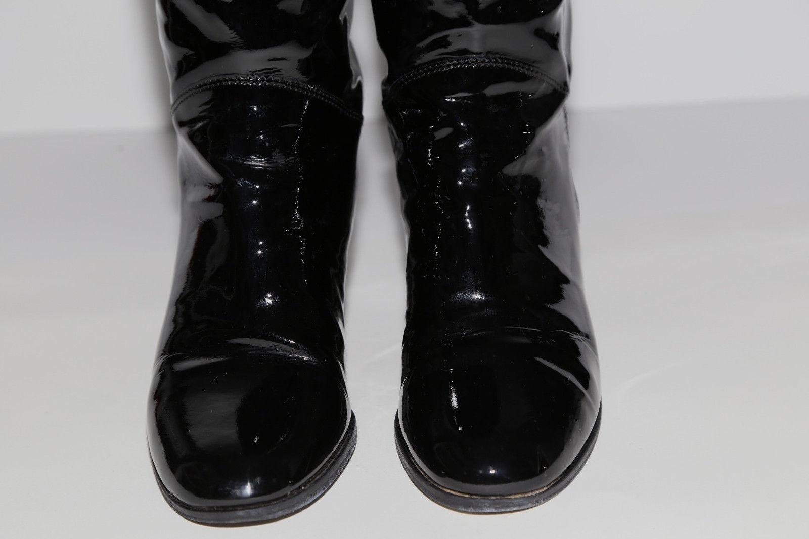 chanel knee high boots. chanel black boots knee high