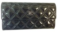 Chanel Brand New Quilted Patent Wallet