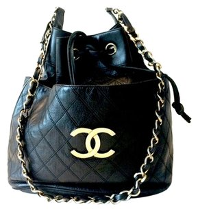 Chanel Bucket Drawstring Shoulder Bag