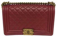 Chanel Burgendy Cross Body Bag