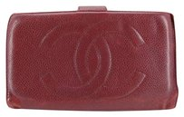 Chanel Burgundy Caviar Wallet 176754