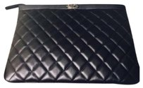 Chanel Chanel Boy O Pouch in Quilted Black Lambskin