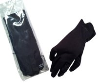 Chanel Chanel Black Polyester and Nylon Gloves -- Size Extra Small