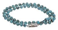 Chanel Chanel Blue Faux Turquoise CC Clasp Choker Necklace 00A