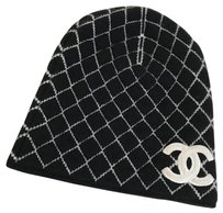 Chanel Chanel Cashmere Quilt CC Black Beanie Hat Limited Edition