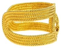 Chanel CHANEL CC LOGOS GOLD-TONE BANGLE 28 FRANCE ACCESSORIES