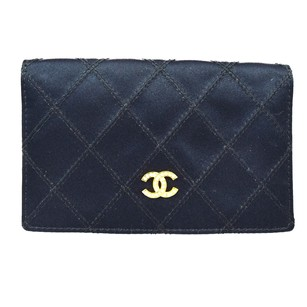 Chanel CHANEL CC Logos Rhinestone Quilted Coin Purse
