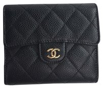 Chanel Chanel Classic Flap Wallet Trifold Black Caviar Gold Hwardware