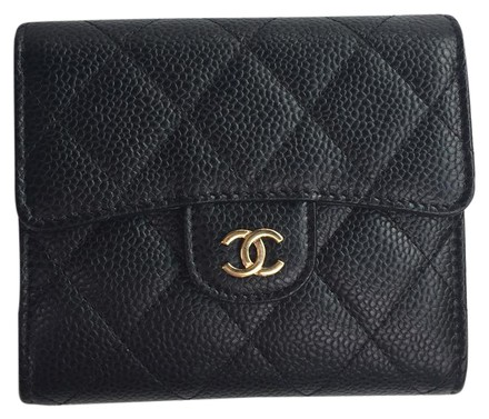 d838f45bed1cb5 Chanel Classic Flap Wallet Black Caviar | Stanford Center for ...