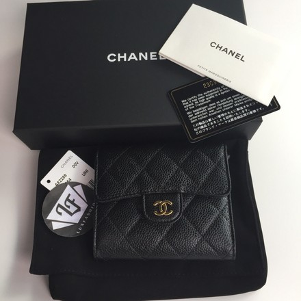1b61b7780039 Chanel Classic Flap Wallet Black Caviar | Stanford Center for ...
