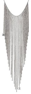 Chanel Chanel Dark Silver-tone Multi-chain Waterfall Necklace