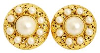 Chanel Chanel Faux Pearl Couture Earrings XL Rare Vintage 1980's