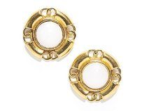 Chanel Chanel Faux Pearl Gold Cc Vintage Clip On Earrings
