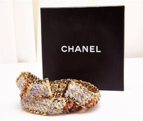 Chanel Chanel Gold Chain Amber Purple Bead Waist Belt