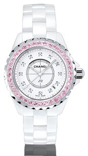 Chanel Chanel J12 Diamond And Pink Sapphire Authentic Watch super RARE!!!!