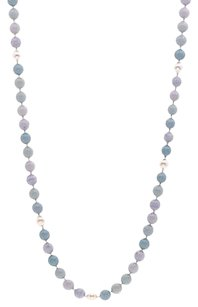 Chanel Chanel Light Blue Signature Cc Bead Necklace