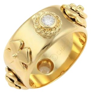 Chanel Chanel Camelia Diamonds Floral 18k Yellow Gold Band Ring -