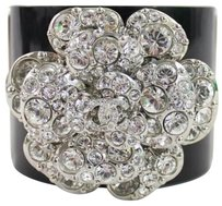 Chanel 100 Off W/code MONDAY100 Chanel Lucite Cuff Bracelet Swarovski Crystal Camellia Flower 7