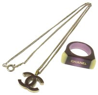 Chanel Chanel Necklace and Ring Set Purple