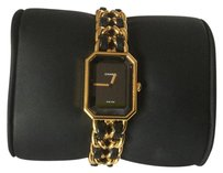 Chanel Chanel Premiere Sapphire Black Dial Ladies Watch Gold